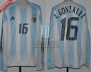 Argentina - 2004 - Home - Adidas - Copa America vs Ecuador - L. Gonzalez
