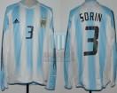 Argentina - 2004 - Home - Adidas - Copa America vs Ecuador - J. Sorin
