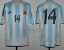 Argentina - 2004 - Home - Adidas - 6ta Fecha Qualy Germany WC vs Brasil - L. Gonzalez