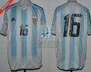 Argentina - 2005 - Home - Adidas - Friendly vs Hungary - L. Gonzalez