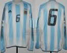 Argentina - 2005 - Home - Adidas - Qualy Germany WC vs Colombia - G. Heinze