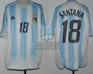 Argentina - 2005 - Home - Adidas - SF Germany Confederations Cup vs Mexico - M. Santana