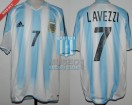 Argentina - 2005 - Home - Adidas - Sudamericano U20 - E. Lavezzi