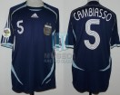 Argentina - 2006 - Away - Adidas - Germany WC vs Serbia y Montenegro - E. Cambiasso