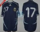 Argentina - 2006 - Away - Adidas - Friendly - L. Cufre