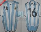 Argentina - 2007 - Home - Adidas - Final Copa America vs Brasil - P. Aimar