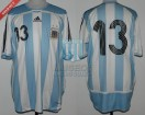 Argentina - 2007 - Home - Adidas - Friendly - S. Aguero