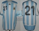 Argentina - 2007 - Home - Adidas - Friendly vs Argelia - D. Milito