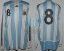 Argentina - 2007 - Home - Adidas - Friendly vs France - J. Zanetti