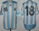 Argentina - 2007 - Home - Adidas - Qualy Sudafrica WC vs Chile - L. Messi
