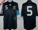 Argentina - 2008 - Away - Adidas - Qualy Sudafrica WC vs Chile - E. Cambiasso