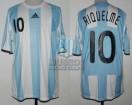 Argentina - 2008 - Home - Adidas - CAMPEON - Final Beijing Olympic Games vs Nigeria - J. Riquelme