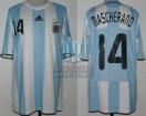 Argentina - 2008 - Home - Adidas - CAMPEON - Beijing Olympic Games vs Serbia - J. Mascherano
