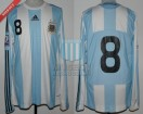 Argentina - 2008 - Home - Adidas - Qualy Sudafrica WC vs Ecuador - J. Zanetti