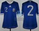 Argentina - 2010 - Away - Adidas - Friendly vs Jamaica - M. Echeverria