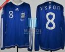Argentina - 2010 - Away - Adidas - South Africa WC vs Greece - J. Veron