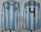 Argentina - 2010 - Home - Adidas - R16 South Africa WC vs Mexico - N. Burdisso