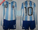 Argentina - 2010 - Home - Adidas - R16 South Africa WC vs Mexico - L. Messi