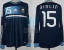 Argentina - 2011 - Away - Adidas - QF Copa America vs Uruguay - L. Biglia