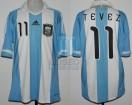 Argentina - 2011 - Home - Adidas - Copa America vs Colombia - C. Tevez