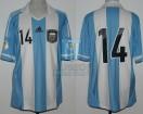 Argentina - 2012 - Home - Adidas - Qualy Brasil WC vs Uruguay - J. Mascherano