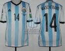 Argentina - 2014 - Home - Adidas - Brasil WC vs Bosnia & Herzegovina - J. Mascherano