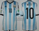 Argentina - 2014 - Home - Adidas - Brasil WC vs Nigeria - L. Messi