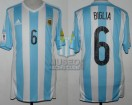 Argentina - 2015 - Home - Adidas - Qualy Russia WC vs Colombia - L. Biglia