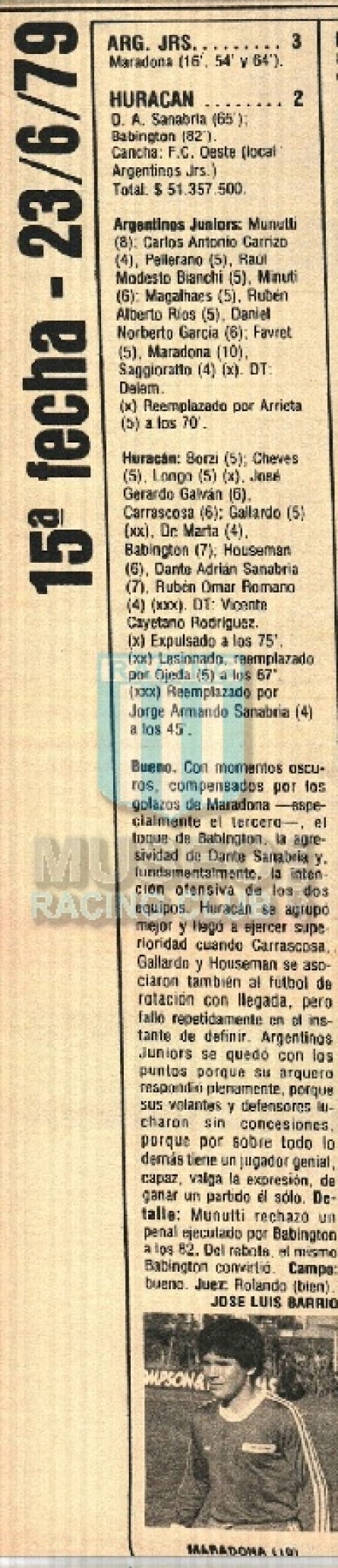 ArgentinosJrs_1979_Home_Adidas_Austral_15taFechaTMvsHuracan_FICHA_ML_10_DiegoMaradona_jugador_01