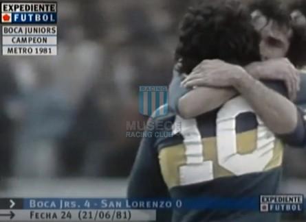 BocaJuniors_1981_Home_Adidas_24taFechaTorneoMetropolitanovsSanLorenzo_Campeon_ST_ML_10_DiegoMaradona_jugador_24