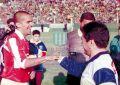EstudiantesLP_1997_Away_Basset_CruzRojaArgentina-Maxima_FriendlyvsGELP_ST_ML_10_DiegoMaradona_jugador_28