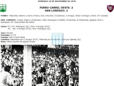 FerroCarrilOeste_1976_Home_Athleta_12daFechaTorneoNacionalvs SanLorenzoAlmagro_FICHA_MC_9_CarlosVidal_jugador_01