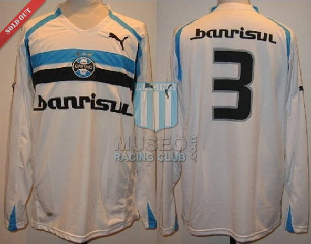 MATCH ISSUED!! Camiseta Alternativa del Gremio Puma del año 2005 mangas largas. Publicidad Banrisul!!!