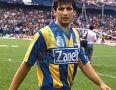 RosarioCentral_1990_Home_Topper_Zanella_TorneoApertura_MC_3_JoseChamot_jugador_11