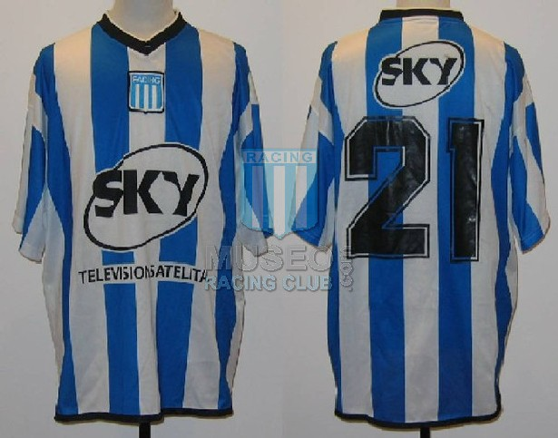 MATCH WORN!! Camiseta de Racing ORIGINAL usada por Francisco