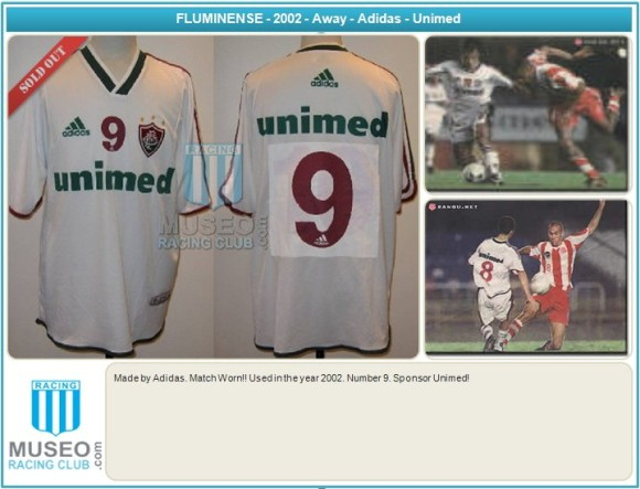 Made by Adidas. Match Worn!! Used in the year 2002. Number 9. Sponsor Unimed!