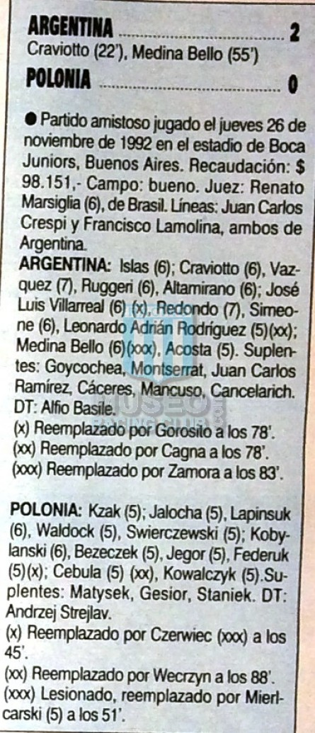 Argentina_1992_Home_Adidas_FriendlyvsPoland_FICHA_MC_19_NestorGorosito_jugador_01