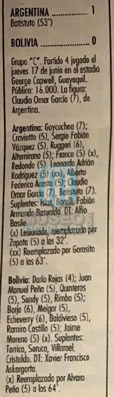 Argentina_1993_Home_Adidas_EcuadorCopaAmericavsBolivia_FICHA_MC_14_NestorCraviotto_jugador_01